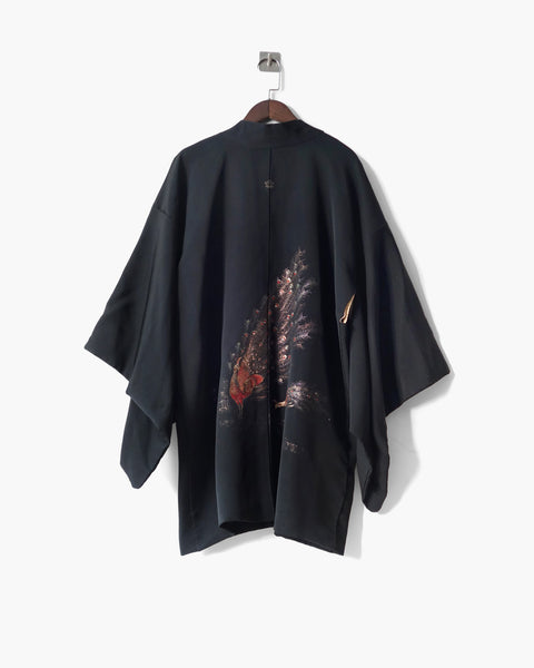 Haori with Peacock Embroidery