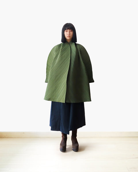 Issey Miyake SS1995 Cocoon Pleated Coat Sz S