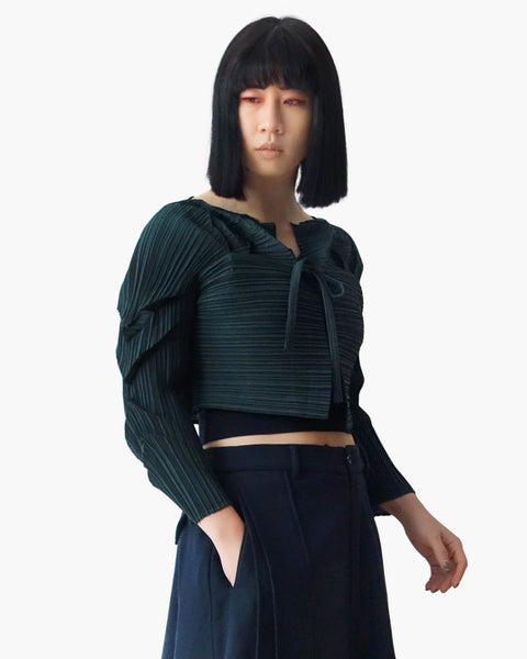 Issey Miyake FETE Cropped Sculptural Jacket Sz 2