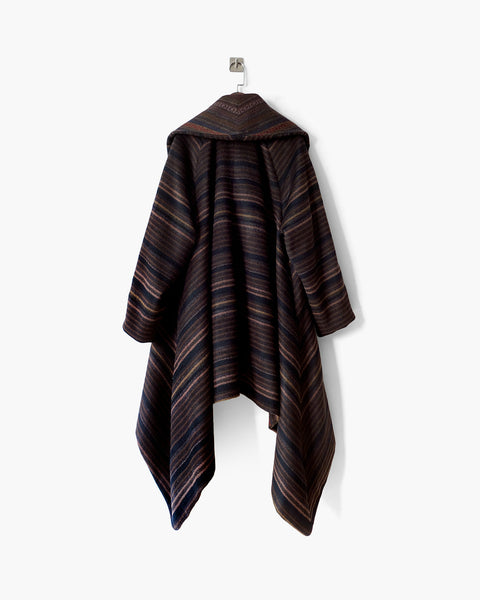 ROSEN Tenzing Coat in Striped Wool Cashmere