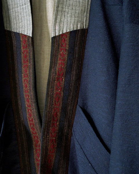 ROSEN Mengzi Coat in Textured Linen