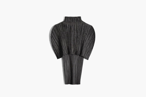 Issey Miyake Pleats Please Turtleneck Cape Blouse Sz 3