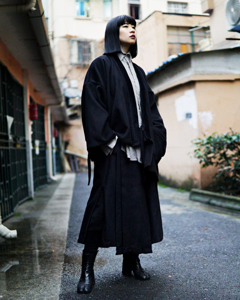 ROSEN Masanobu Noragi in Black Wool