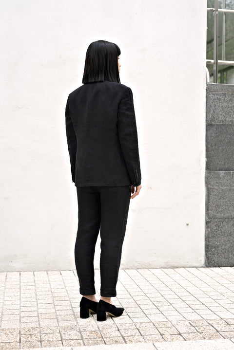 ROSEN-S Daily Suit - Black Linen