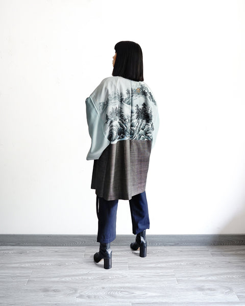 Haori with Hand-Painted Scenery