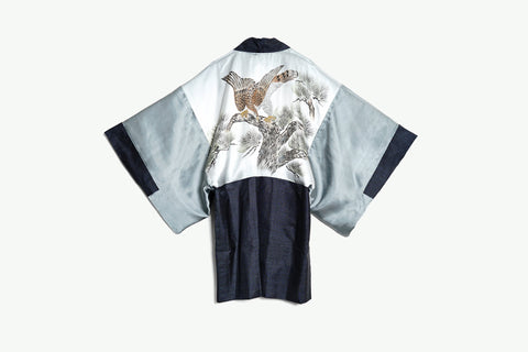 Haori with Hand-Painted Hawk