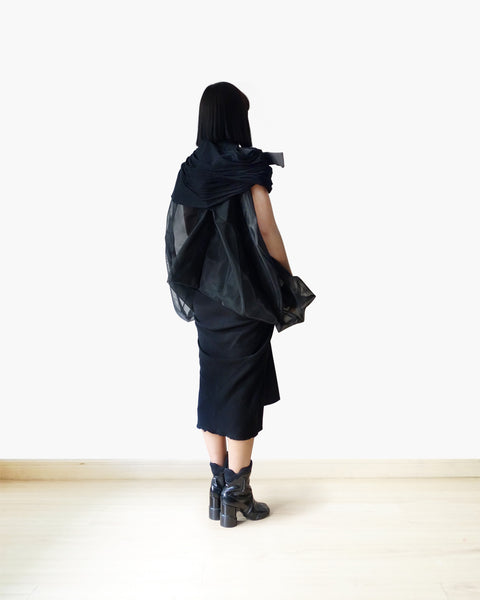 Rick Owens SS2017 Runway Sculptural Tulle Coat IT 40