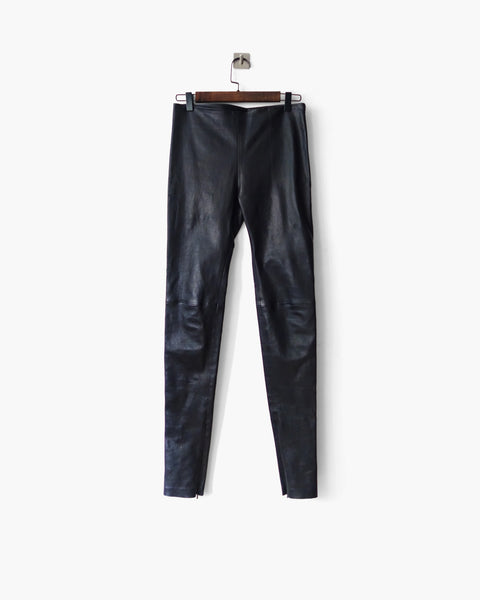 Balenciaga Stretch Leather Skinny Trousers FR 38