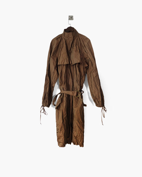 Jean Paul Gaultier Metallic Pleated Coat IT 40