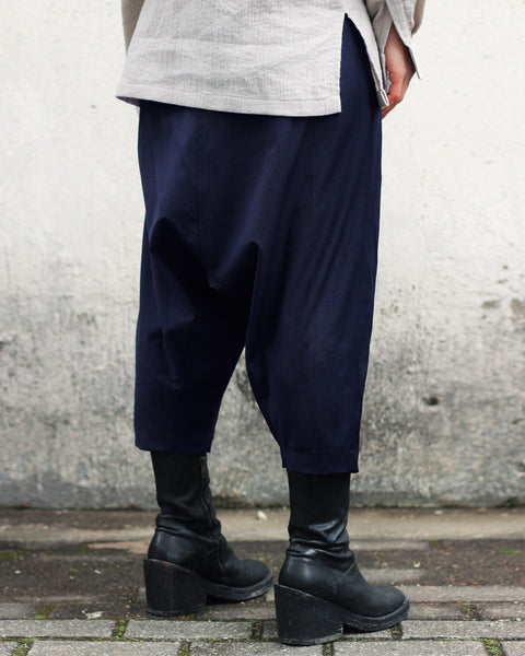 ROSEN Patchi Trousers in Navy Wool