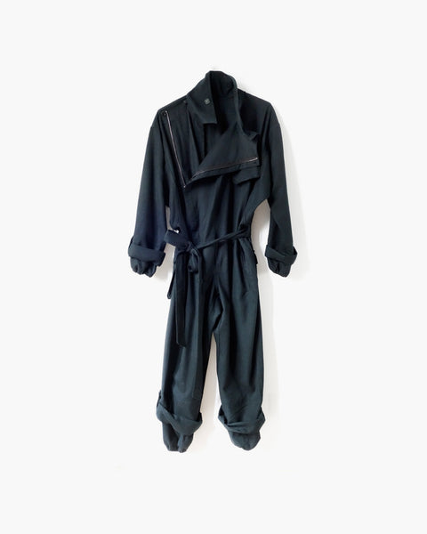 ROSEN Earhart Jumpsuit in Spruce Green Wool