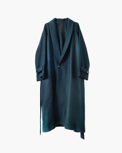 ROSEN Epicurean Robe in Pine Green Wool