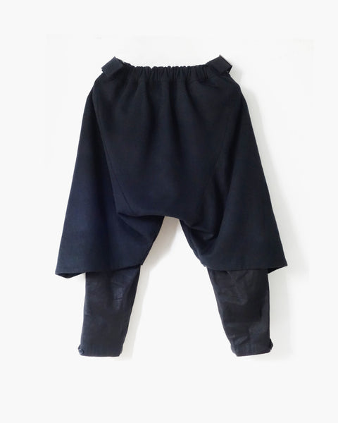 ROSEN Ingvar Trousers in Navy Wool Cashmere