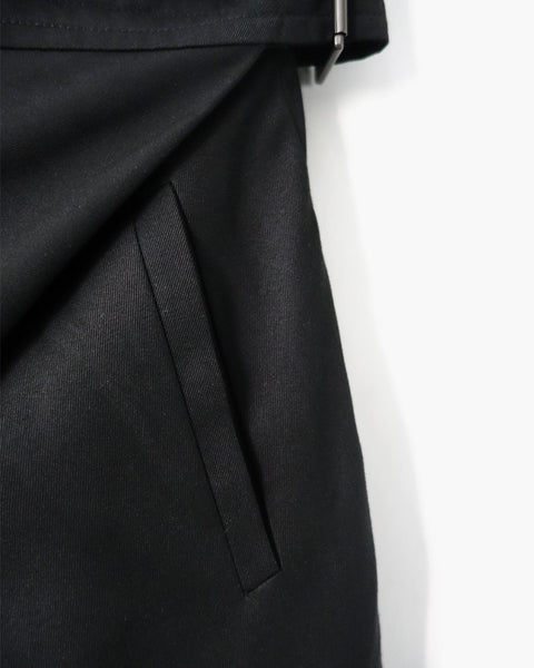 ROSEN Ingvar Trousers in Black Wool