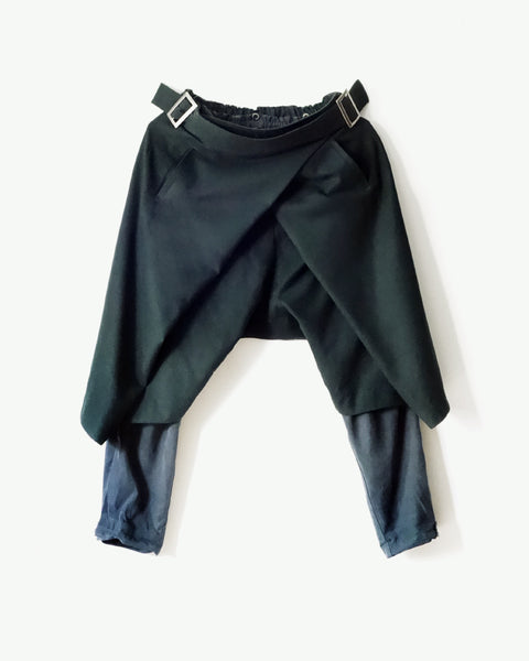 ROSEN Ingvar Trousers in Spruce Green Wool
