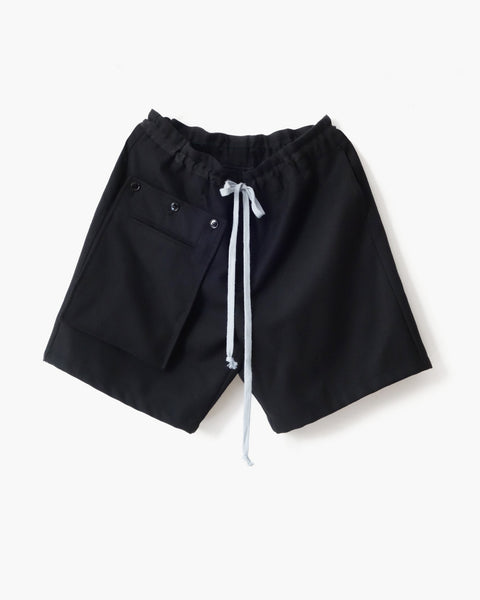 ROSEN Locke Shorts in Japanese Wool Gabardine