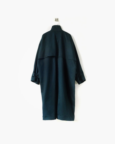 ROSEN Orwellian Coat in Spruce Green Cotton Twill