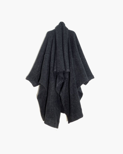 ROSEN O-Ren Coat in Grey Boiled Wool