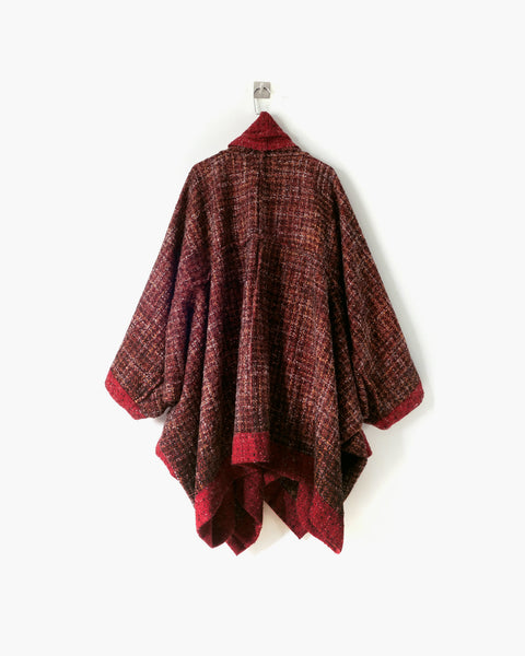ROSEN O-Ren Coat in Persian Red Wool