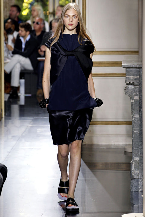 Céline SS2013 Runway Origami Bow Silk Dress FR 34