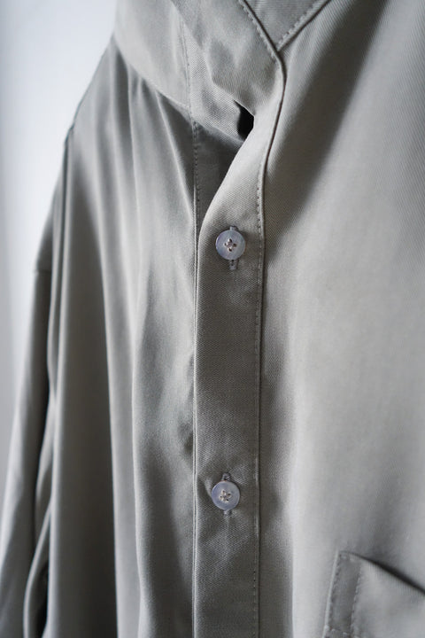 ROSEN Planck 2.0 Shirt in Grey Sandwashed Silk