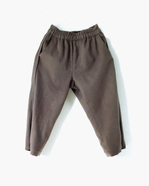 ROSEN Plato Trousers in Taupe Wool Cashmere