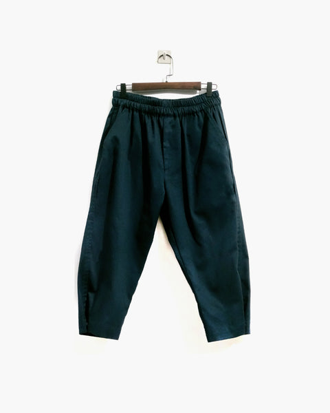 ROSEN Plato Trousers in Spruce Green Cotton Twill