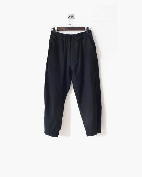 ROSEN Plato Trousers in Black Cotton Twill