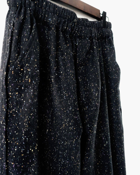 ROSEN Plato Trousers in Black Speckled Wool