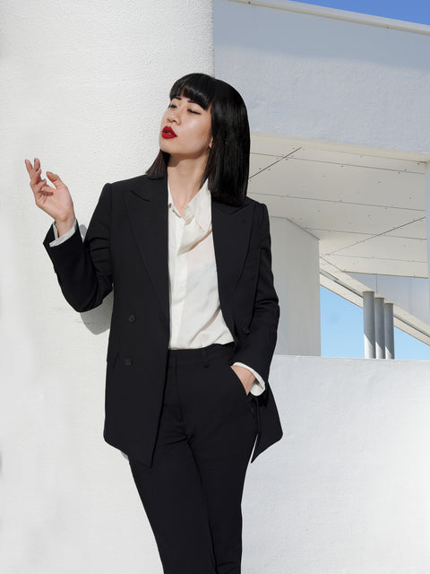 ROSEN-S Double-Breasted Tuxedo Jacket