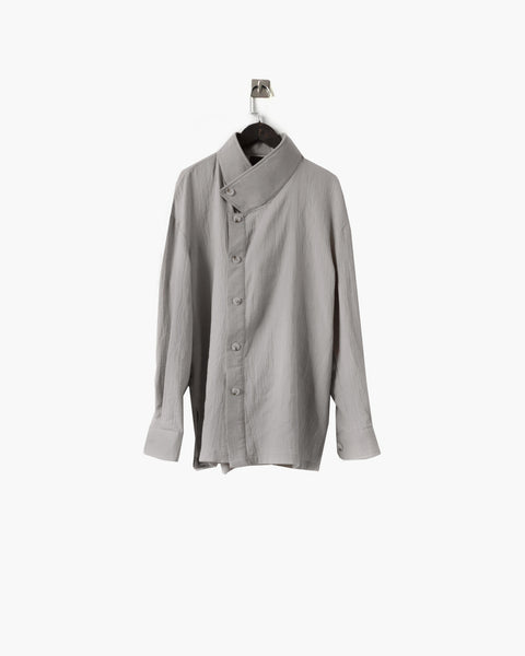 ROSEN Severus Shirt in Grey Linen