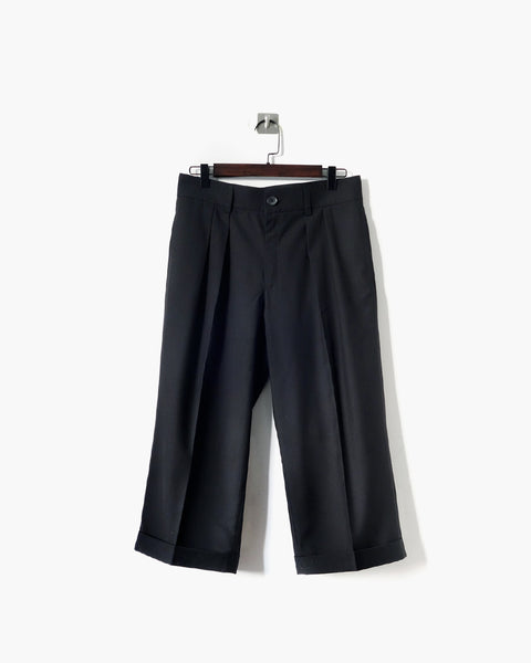 ROSEN Coltrane Trousers in Black Wool Twill