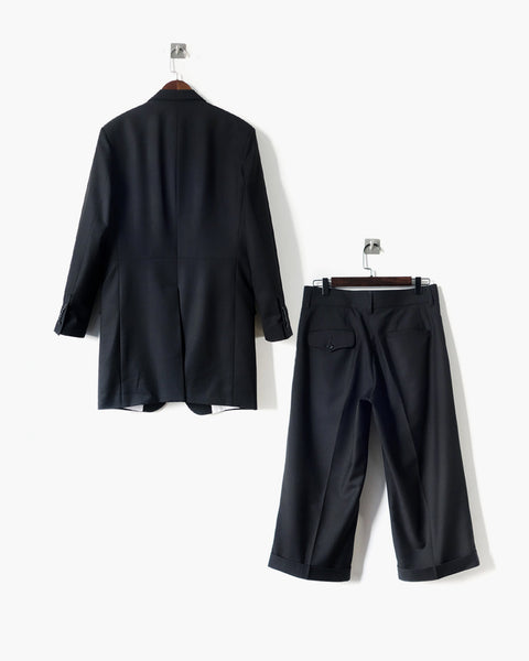 ROSEN Coltrane Suit in Black Wool Twill