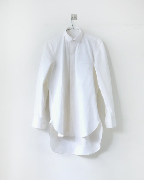 ROSEN Aalto Shirt in White Cotton Twill