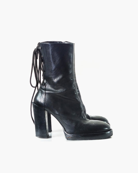 Ann Demeulemeester Lace-up Ankle Boots Sz 38