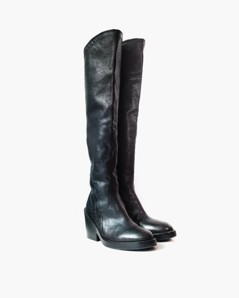 Ann Demeulemeester FW2012 Over-The-Knee Pirate Boots Sz 38.5