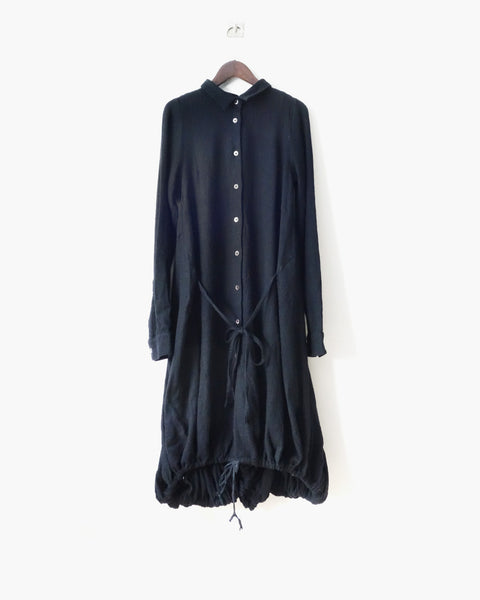 Ann Demeulemeester FW2007 Wool Shirt Dress Sz 38