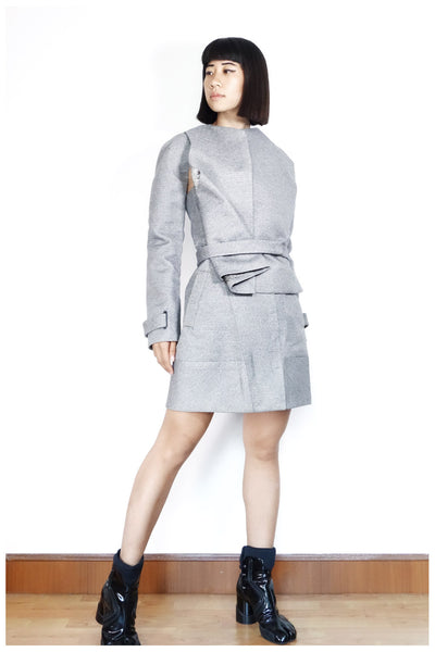 Balenciaga Layered Coat Dress Sz 36