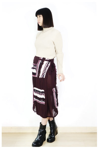 Comme des Garçons Tricot AD2006 Embroidered Skirt Fits XS-M