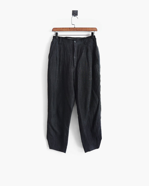 ROSEN Oscar Trousers in Mud-Dyed Linen