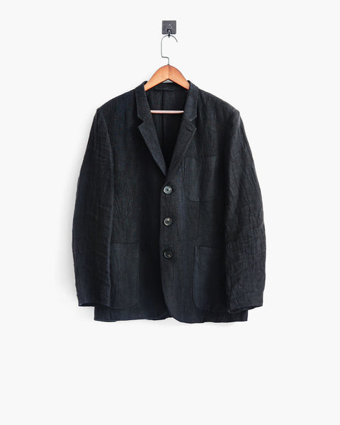 ROSEN Oscar Jacket in Mud-Dyed Linen