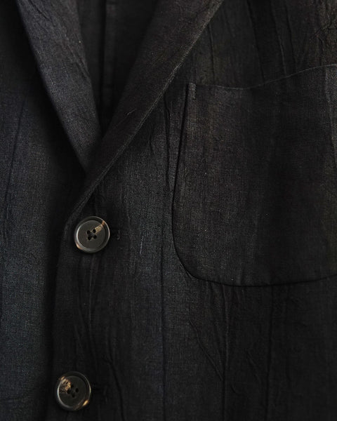 ROSEN Oscar Suit in Mud-Dyed Linen