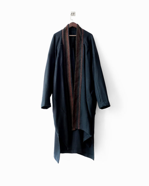 ROSEN Gaussian Coat in Textured Wool