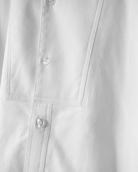 ROSEN Hume Shirt in White Cotton