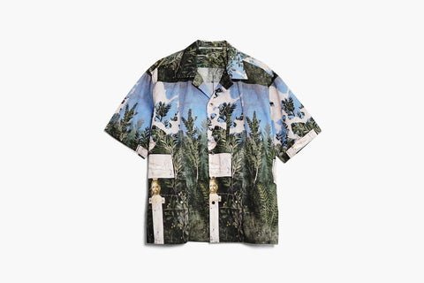 ROSEN-S Short Sleeve Shirt - Abstract Print Cotton