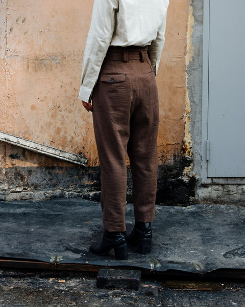 ROSEN Yeats Trousers in Wool Linen