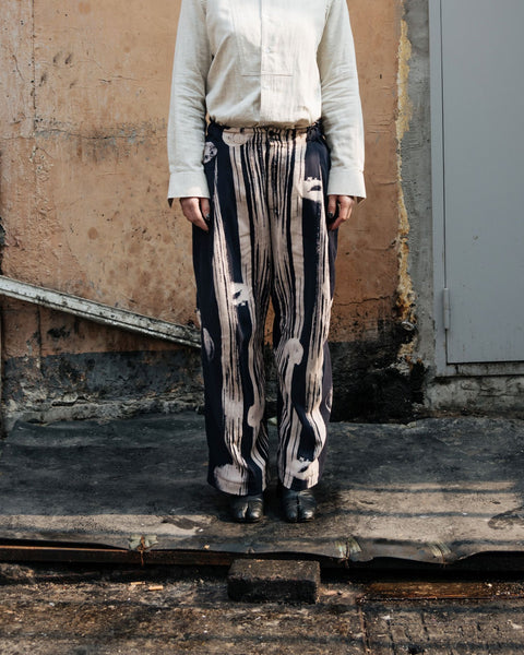 ROSEN Maxwell Trousers in Printed Linen