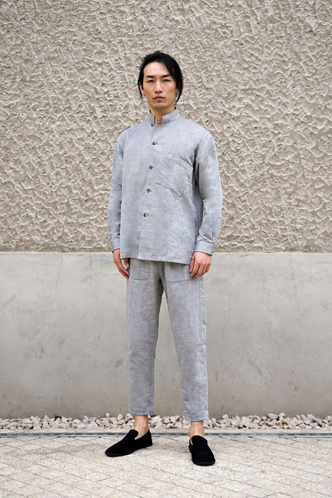 ROSEN-S Leisure Suit - Grey Linen