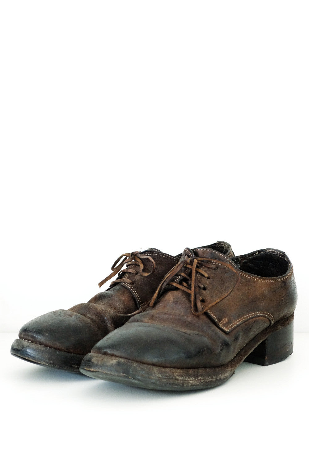 Guidi Leather Derbies Sz 37.5