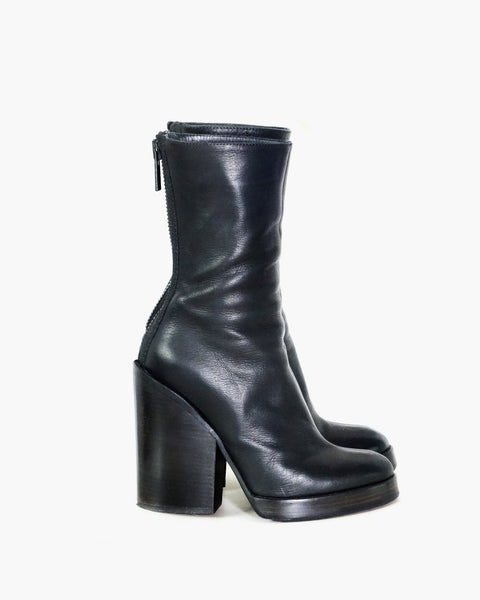 Haider Ackermann Leather Boots Sz 37.5